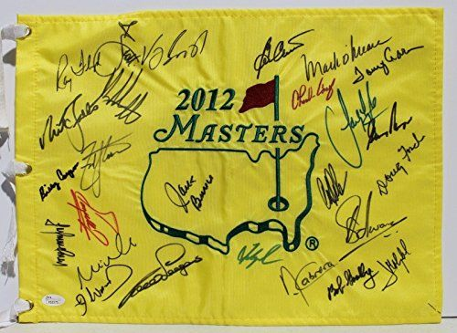 Masters Golf Flag Signed By 26 Champions Bubba Watson, Player, Scott + - PSA/DNA Certified - Autographed Pin Flags