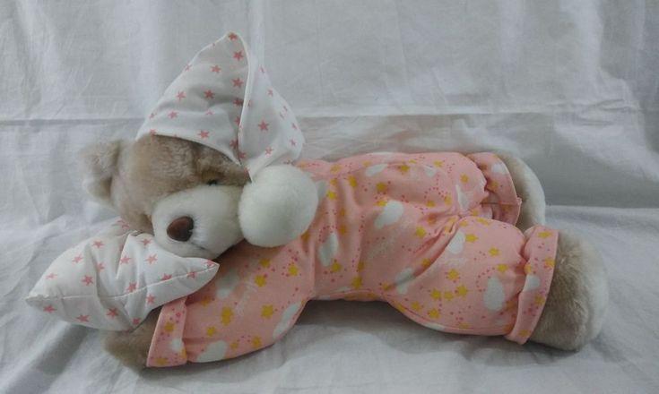 "15"" Long Plush Praying Sleeping Talking Teddy Bear Stuffed Animal  #WMI"