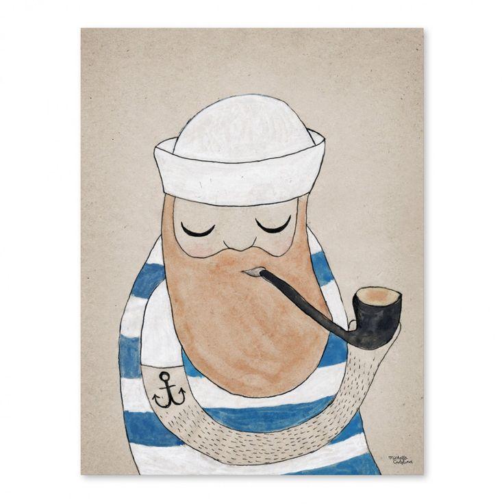 Sailor Affisch | Michelle Carlslund Illustration | Länna Möbler | Handla online