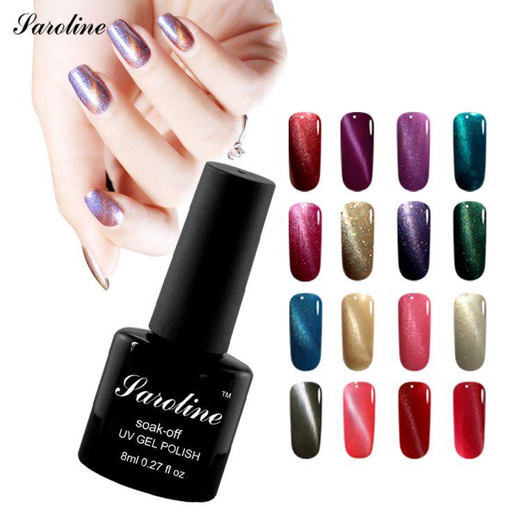 Saroline 8ml UV Varnish 3D Cat Eyes Gel Nail Polish Magnetic Color Changing Nail Polish Lacquer Nails Gel Professional