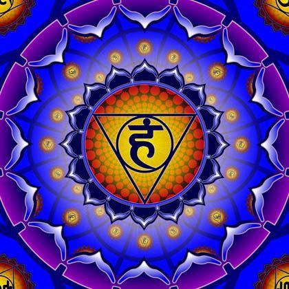 """5° Chakra - Vishuddha. """"Esprimo con naturalezza la mia verità interiore, comunico con gli altri in modo sano e costruttivo ed ho anche imparato a nutrirmi dell'energia del silenzio!"""""""