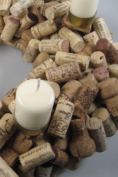 vinoresca weinaccessoires - shop   korkenkranz   adventskranz aus weinkorken