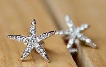 Starfish Earrings... FUN STUD EARRINGS ALL UNDER $2 SHIPPED! ~ GREAT GIFT IDEAS: Diamonds Earrings, Faux Diamonds, Fashion Earrings, Embellishments Earrings, Diamonds Embellishments, Faux Flowers, Studs Earrings, Flowers Earrings, Starfish Earrings