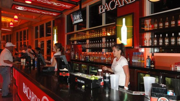 A Bacardi bar in the American Airlines Arena.