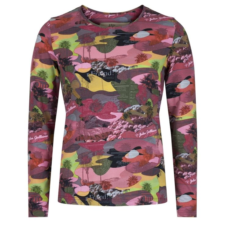 John Galliano Girls Multicoloured Camo Print Long Sleeved T-Shirt