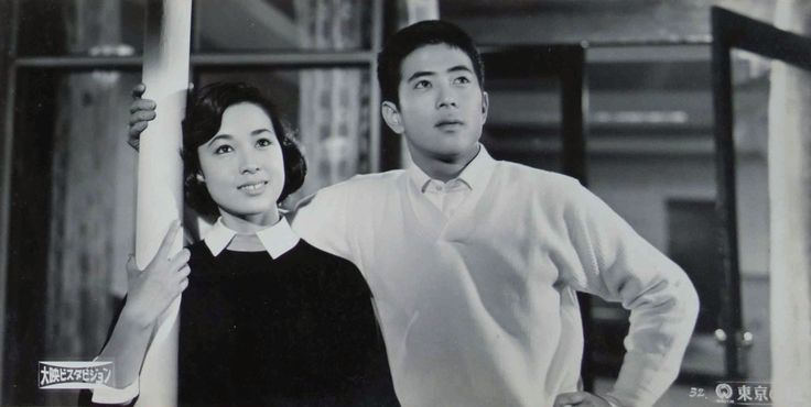 「東京の瞳」スチール 若尾文子+川口浩 監督:田中重雄 1958年 大映