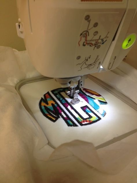 how to monogram with a sewing machine