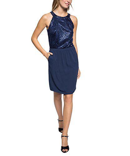 ESPRIT Collection Damen Etui Kleid mit Stretch, Knielang, Gr. 44, Blau (NAVY 400)  http://www.damenfashion.net/shop/esprit-collection-damen-etui-kleid-mit-stretch-knielang-gr-44-blau-navy-400/