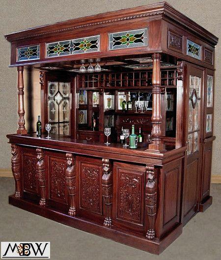 Captivating MBW Furniture   Mahogany Canopy Pub Bar W/ Stained Glass, $7,499.00u2026