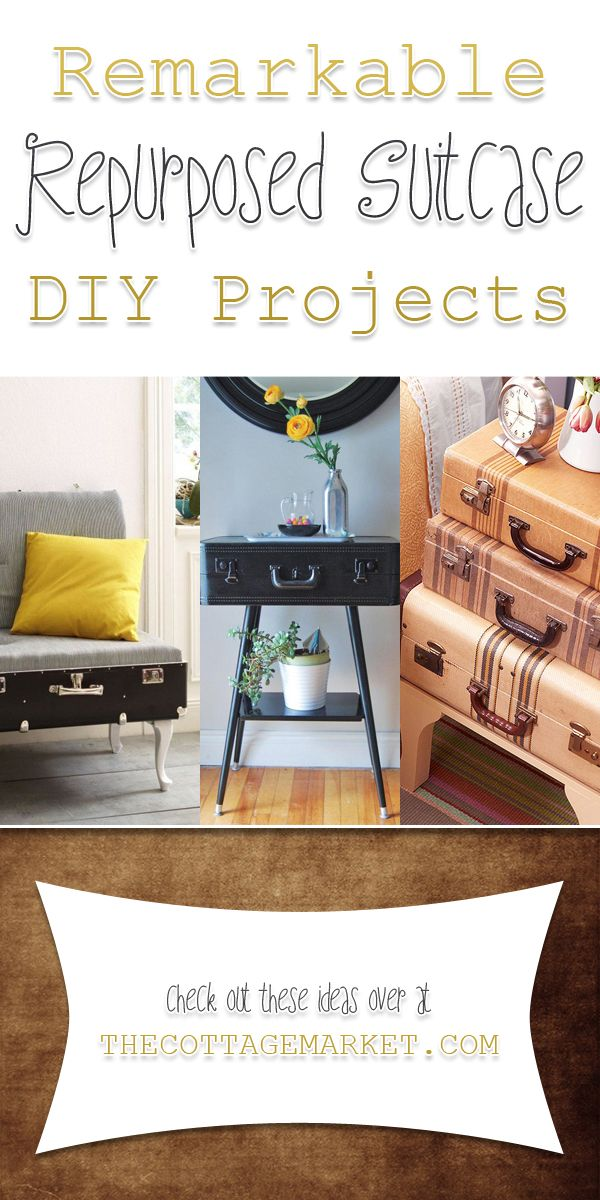 Remarkable Repurposed Suitcase DIY Projects The