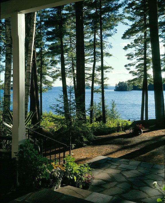 View From Stacy And Greg S Wedding Reception At Migis Lodge Sebago Lake Maine
