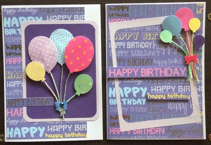 🎈🎈 Happy Birthday cards 🎈🎈 #handmadebyme  January 2017