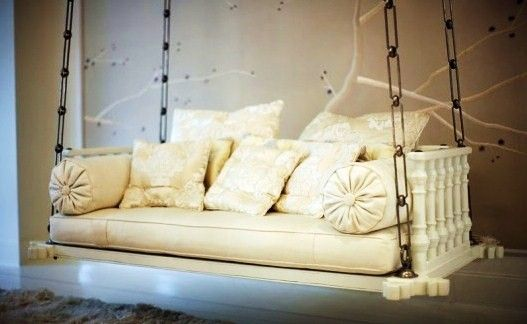 Gwyneth Paltrow's chair swing made from an old door - insanely awesome! #home #decor #design