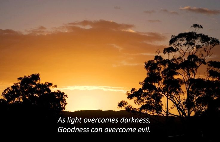 Light overcomes darkness quote via Carol's Country Sunshine on Facebook
