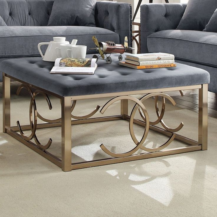 Lovely Jaxson Fabric Coffee Table