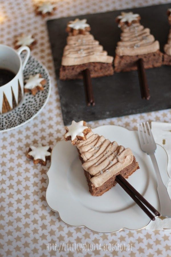 Chocolate coffee christmas trees mulled wine cake ☆