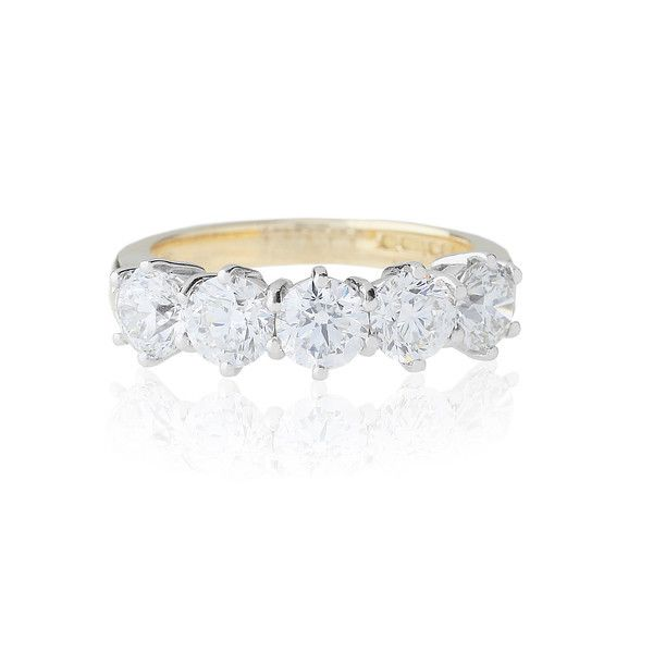 Feel special any time with this 18ct yellow gold round brilliant-cut diamond eternity ring.