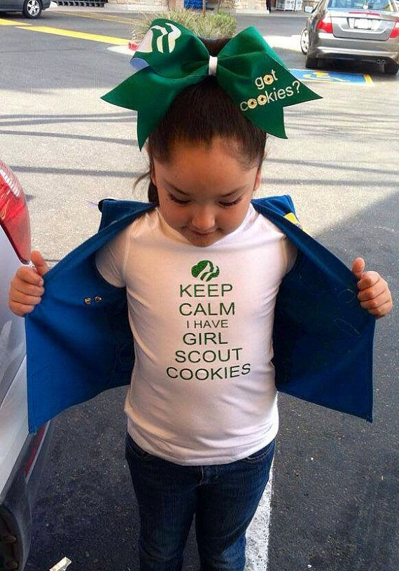 Glitter Girl Scout cookies shirt & bow by everythinggirly on Etsy