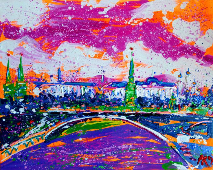 "Saatchi Art Artist: Anastasia Kachina; Oil 2014 Painting ""Moskow"""