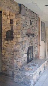 Old Bridge Double Bell Masonry Heater Thin Stone Veneer 1745