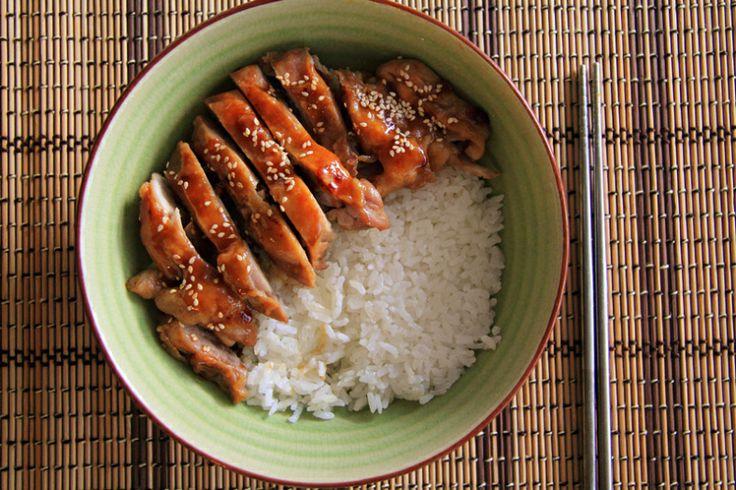 Rice with Teriyaki Chicken