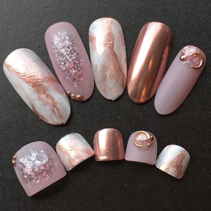 The 25 best copper nails ideas on pinterest chrome rose gold they got press on toe nails who pinky toenail that big not mine prinsesfo Choice Image