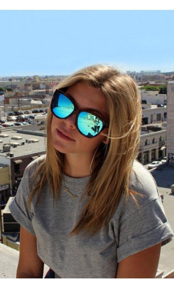 cheap ray ban sunglasses online tqng  Quay About Last Night Tortoise / Blue Sunglasses