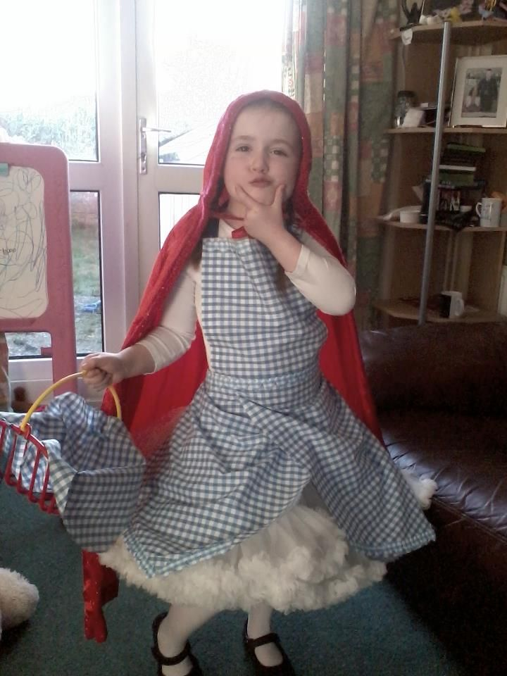 Homemade Little Red Riding Hood for World Book day