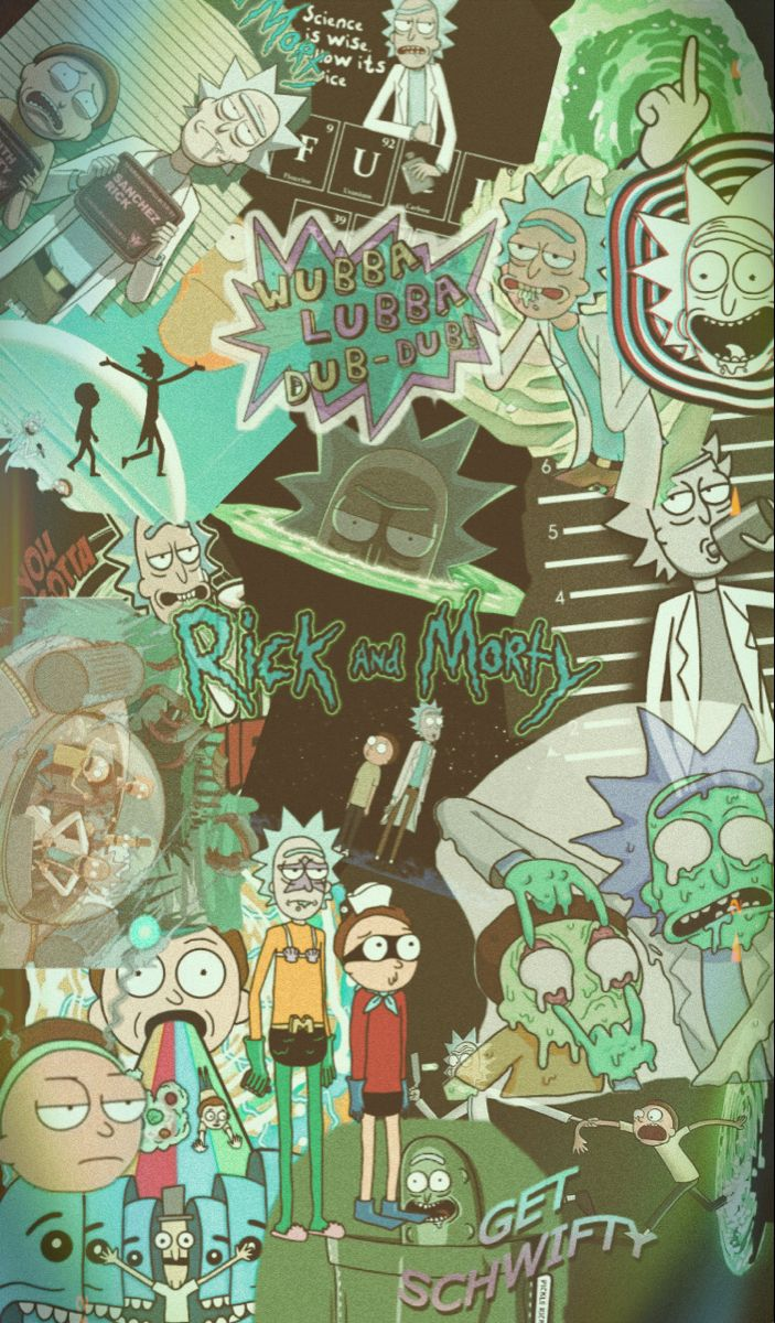 Rick And Morty Iphone Wallpaper Rick And Morty Rick And Morty Poster Rick And Morty Stickers Aesthetic rick and morty wallpaper