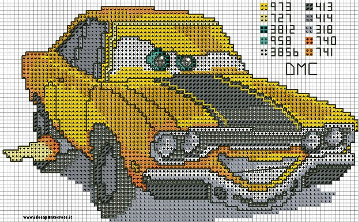 Cross stitch *<3* Point de croix SCHEMA CAR