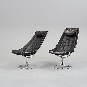 """BRUNO MATHSSON, A pair of Bruno Mathsson chairs, """"Jetson"""", Dux."""