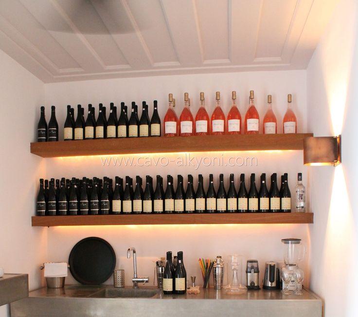 Villa Amalthea, private bar set up for a client