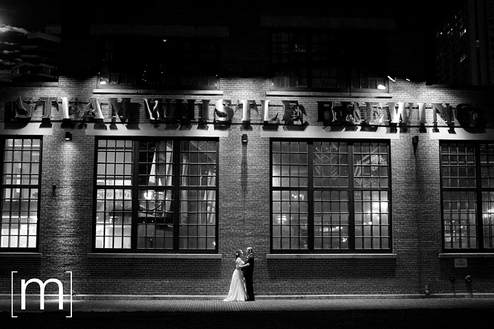 Another night shot of the Steam Whistle Brewery