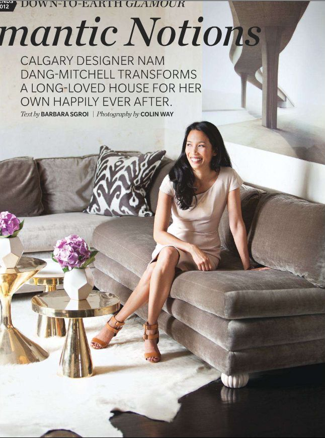 those tables: Houses, At Home, Living Rooms, Gold Table, Interiors Design, Coff Tables, Nam Dang Mitchell, Gold Accent, Sofas