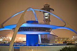 Theme Building, LAX by William Pereira, Charles Luckman, Paul Williams and Welton Becket.