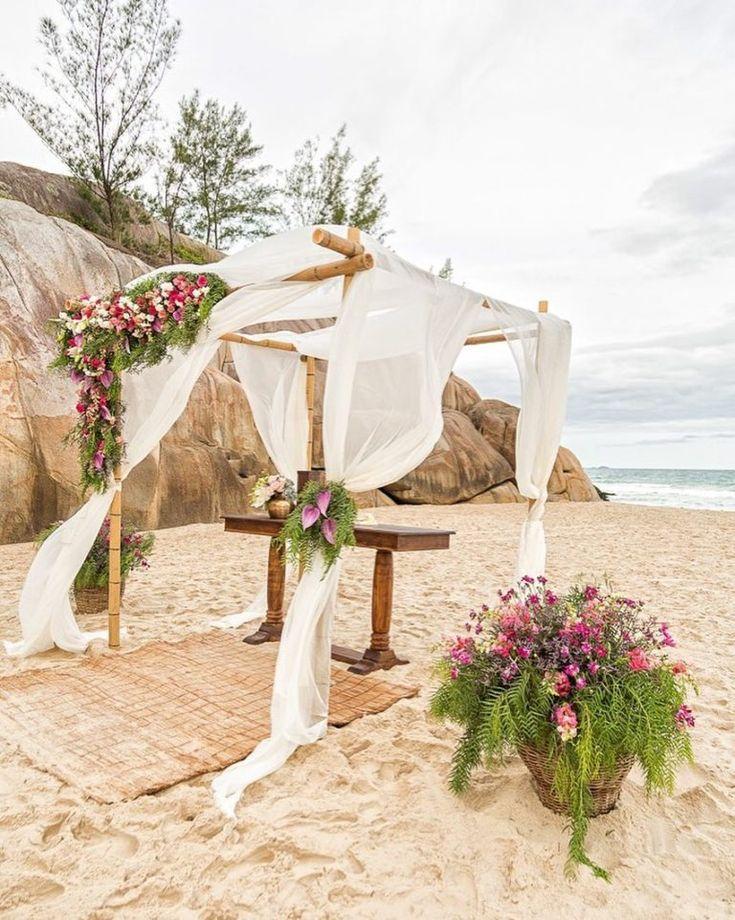 Casamento na praia: 70 idéias e dicas para uma cerimônia inesquecível   – Casamento