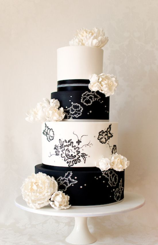 beautiful black and white wedding cake pictures 129 best black white wedding images on 11205