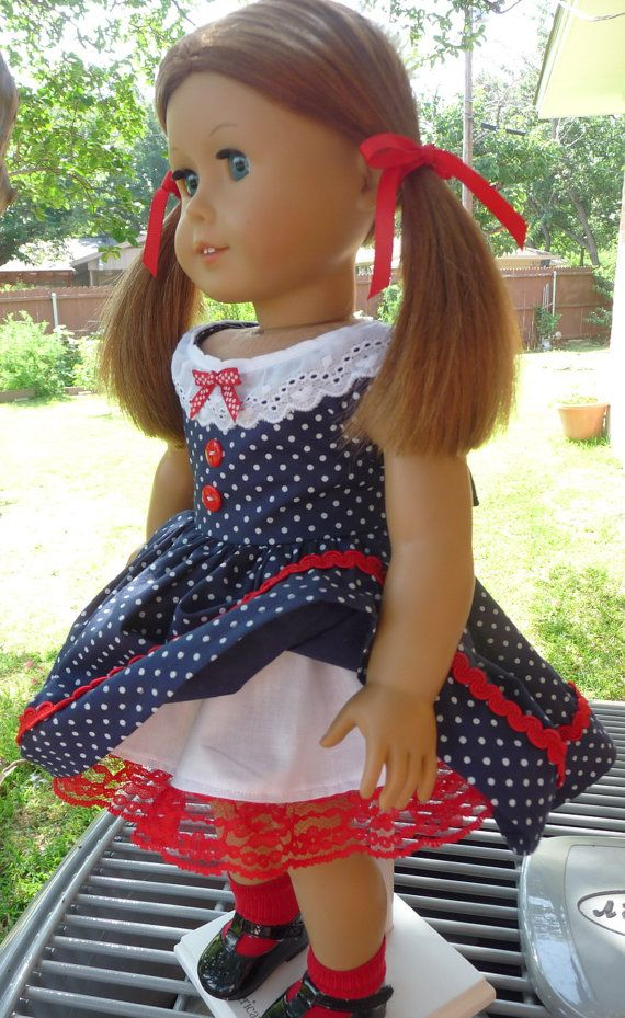 18 Doll Clothes 1950's Style July 4th Patriotic by Designed4Dolls, $19.95
