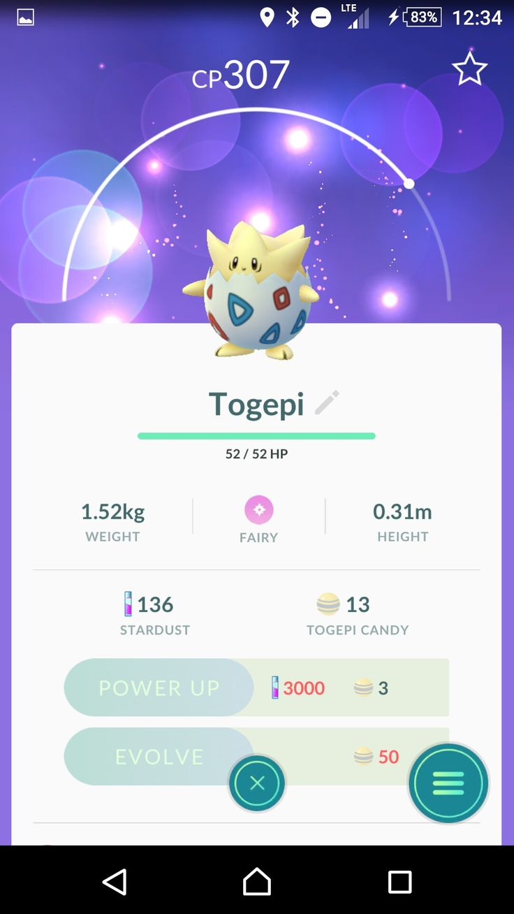 CompassionateForce. 🙌❗I need to hatch another togepi before I evolve a strong IV.