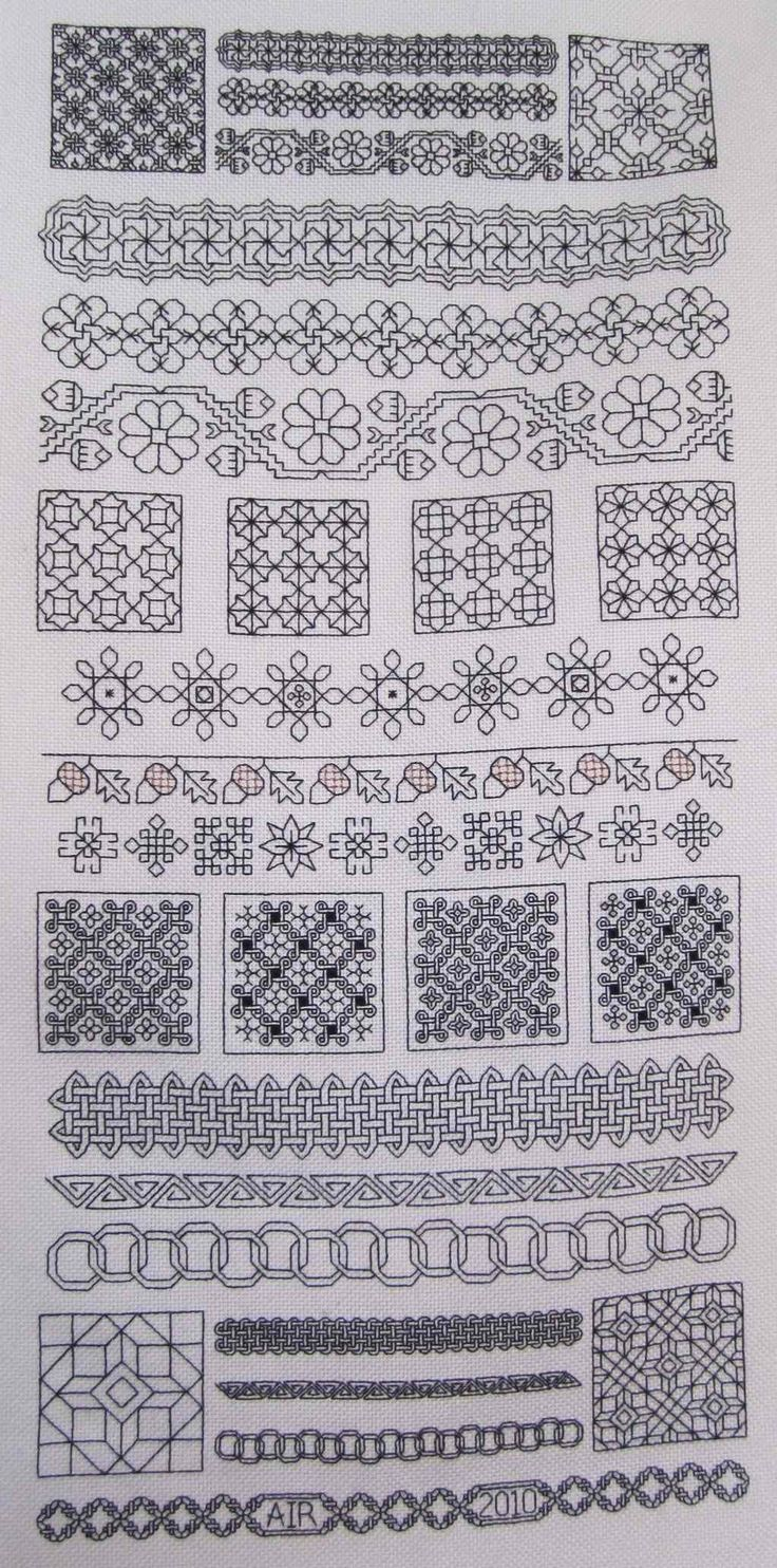Blackwork Sampler SAL | Chanda Belle  Pattern designed by Lynne Herzberg and published in The Gift of Stitching
