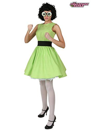this plus size buttercup powerpuff girl costume will let you be the tough girl of the group - Tough Girl Halloween Costumes