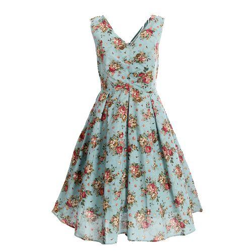 2016 new style V-Neck Sleeveless flower printing Light blue summer dress