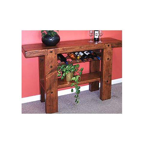 Barrel Stave Side Table
