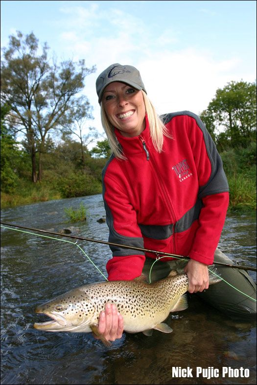 Women fly fishing