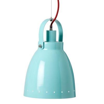 Retro metalen hanglamp 'turquoise' Done by Deer