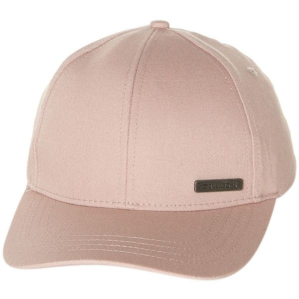 Billabong Spring Break Cap ($15) ❤ liked on Polyvore featuring accessories, hats, cap, dusty pink, billabong cap, strap hats, pink cap, logo hats and billabong hat