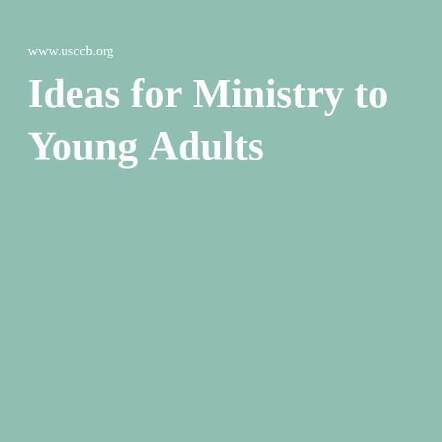 Ideas for Ministry to Young Adults