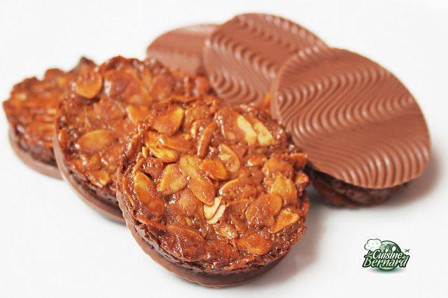 La Cuisine de Bernard: Les croustillants chocolat-amandes (pas à pas avec photos)