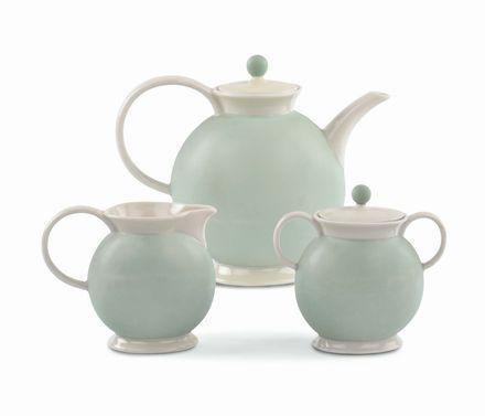 Guido Andlovitz - S.C.I.- Laveno - Servizio da tè in ceramica smaltata 1930 circa.