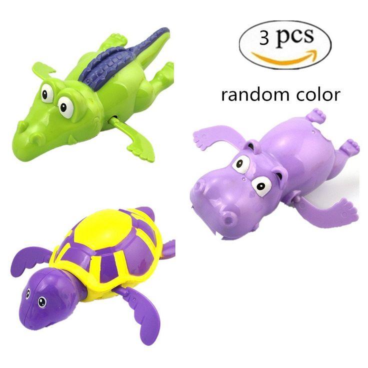 Clockwork Swimming Animal Bath Toys 3 Pieces - http://amzn.to/2qBinwF